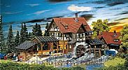 Faller 130229 OO/HO Scale Model Kit BLACK FOREST SAWMILL - WITH MOTOR