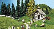Faller 130235 OO/HO Scale Model Kit RURAL CHAPEL WITH CROSSES - ERA II