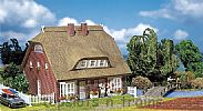 Faller 130250 OO/HO Scale Model Kit DWELLING HOUSE WITH THATCHED ROOF