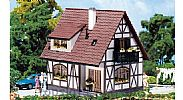 Faller 130257 OO/HO Scale Model Kit HALF-TIMBERED DETACHED HOUSE