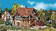 Faller 130266 OO/HO Scale Model Kit HALF-TIMBERED HOUSE