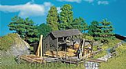 Faller 130288 OO/HO Scale Model Kit LUMBER YARD - WITH LOGS / RAFTERS / BOARDS etc