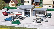 Faller 130296 OO/HO Scale Model Kit PETROL STATION AND CAR WASH