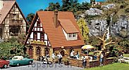 Faller 130314 OO/HO Scale Model Kit ZUR KRONE INN - WITH BEER GARDEN