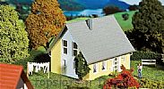 Faller 130317 OO/HO Scale Model Kit DETACHED HOUSE - YELLOW