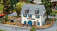 Faller 130437 OO/HO Scale Model Kit KRONE INN - WITH COVERED EXTERIOR STAIRCASE