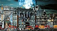 Faller 130441 OO/HO Scale Model Kit BURNING TAX OFFICE BUILDING