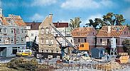 Faller 130466 OO/HO Scale Model Kit HOUSE UNDER DEMOLITION - WITH EXCAVATOR