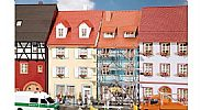 Faller 130494 OO/HO Scale Model Kit 2 X SMALL TOWNHOUSES WITH SCAFFOLDING
