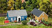 Faller 130506 OO/HO Scale Model Kit 2 X COTTAGES / HOLIDAY HOMES