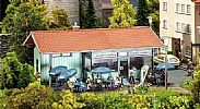 Faller 130514 OO/HO Scale Model Kit ICE CREAM PARLOUR - WITH PART COVERED TERRACE