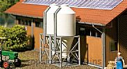 Faller 130530 OO/HO Scale Model Kit 2 X FEED SILOS - FOR DRY OUTDOOR STORAGE