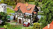 Faller 130572 OO/HO Scale Model Kit FORESTRY OFFICE / FOREST RANGERS COTTAGE