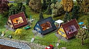 Faller 130606 OO/HO Scale Model Kit 3 X HOLIDAY HOMES / VILLAS