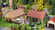 Faller 130607 OO/HO Scale Model Kit 2 X VILLAGE HOUSES