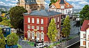 Faller 130618 OO/HO Scale Model Kit POST OFFICE - 3 STOREY BUILDING
