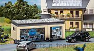 Faller 130621 OO/HO Scale Model Kit DOUBLE GARAGE - WITH DRIVE PARTS