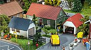 Faller 130622 OO/HO Scale Model Kit 2 X DOMESTIC GARAGES