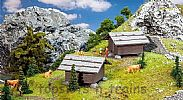 Faller 130636 OO/HO Scale Model Kit 2 X HAY BARNS – FOR HAY OR FIREWOOD