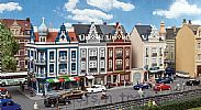 Faller 130701 OO/HO Scale Model Kit BEETHOVENSTRASSE - ROW OF TOWNHOUSES WITH SHOPS