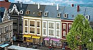 Faller 130702 OO/HO Scale Model Kit BEETHOVENSTRASSE TERRACED HOUSES WITH SHOPS X 2