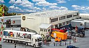 Faller 130785 OO/HO Scale Model Kit UPS DISTRIBUTION CENTRE - LOGISTICS HALL