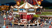 Faller 140316 OO/HO Scale Fairground Model Kit CHILDRENS MERRY-GO-ROUND RIDE IV - WITH MOTOR