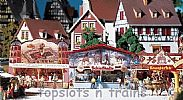 Faller 140320 OO/HO Scale Fairground Model Kit MIDWAY BOOTHS
