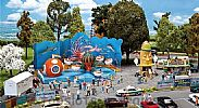 Faller 140341 OO/HO Scale Fairground Model Kit COUNTY FAIRGROUND SET - WITH OCTOPUS RIDE V