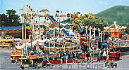 Faller 140430 OO/HO Scale Fairground Model Kit WHITEWATER PIRATE ISLAND - LOG FLUME – FUNCTIONING