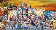 Faller 140461 OO/HO Scale Fairground Model Kit BREAK DANCE ROUNDABOUT RIDE - WITH DRIVE MOTOR