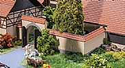 Faller 180400 OO/HO Scale Model Kit WALL WITH GATE