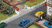 Faller 180410 OO/HO Scale Model Kit GARDEN FENCE WITH GATE - OVERALL LENGTH 710 mm