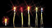 Faller 180673 OO/HO/N Scale Lights YELLOW - MICRO CABLE BULB – 12-16v AC / DC 35 mA