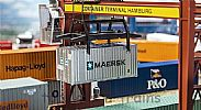 Faller 180820 OO/HO Scale Model 20FT SHIPPING CONTAINER - MAERSK