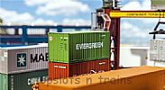 Faller 180821 OO/HO Scale Model 20FT SHIPPING CONTAINER - EVERGREEN