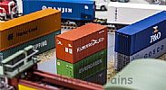 Faller 180822 OO/HO Scale Model 20FT SHIPPING CONTAINER - HAMBURG SUD