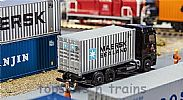Faller 180823 OO/HO Scale Model 20FT SHIPPING CONTAINER - MAERSK SEALAND