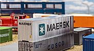 Faller 180840 OO/HO Scale Model Kit 40FT HI-CUBE SHIPPING CONTAINER - MAERSK