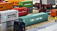 Faller 180844 OO/HO Scale Model Kit 40FT HI-CUBE CONTAINER - CHINA SHIPPING