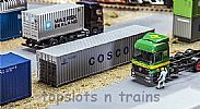 Faller 180845 OO/HO Scale Model Kit 40FT HI-CUBE SHIPPING CONTAINER - COSCO
