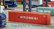 Faller 180849 OO/HO Scale Model Kit 40FT HI-CUBE SHIPPING CONTAINER - HYUNDAI V