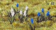 Faller 181265 OO/HO Scale 32 X HYACINTHS - APPROX HEIGHT 10mm