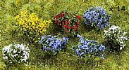 Faller 181269 OO/HO Scale 14 X FLOWERING BUSHES - APPROX HEIGHT 13mm