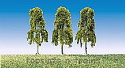 Faller 181376 OO/HO Scale Trees 3 X WEEPING BIRCH TREES - 90 mm