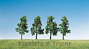 Faller 181407 OO/HO/N Scale Trees 4 X FRUIT TREES WITH FRUIT - 60 mm