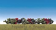 Faller 181474 OO/HO/N Scale 12 X BUSHES IN ASSORTED COLORS - 40 mm