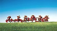 Faller 181476 OO/HO/N Scale 6 X BUSHES - RED FLOWERS – 40 mm