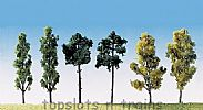 Faller 181488 OO/HO/N Scale Trees 6 X ASSORTED TREES / 60 mm