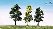 Faller 181497 OO/HO Scale Trees 15 X MIXED FOREST TREES / 100 mm